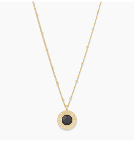 Website Power Gemstone Coin Necklace for Protection