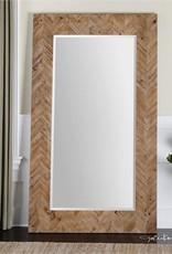 Demetria Oversized Wooden Mirror