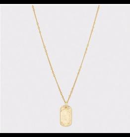 Website Griffin Dog Tag Necklace - gold