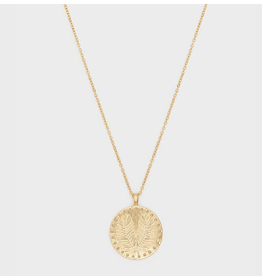 Website Palm Coin Necklace - gold