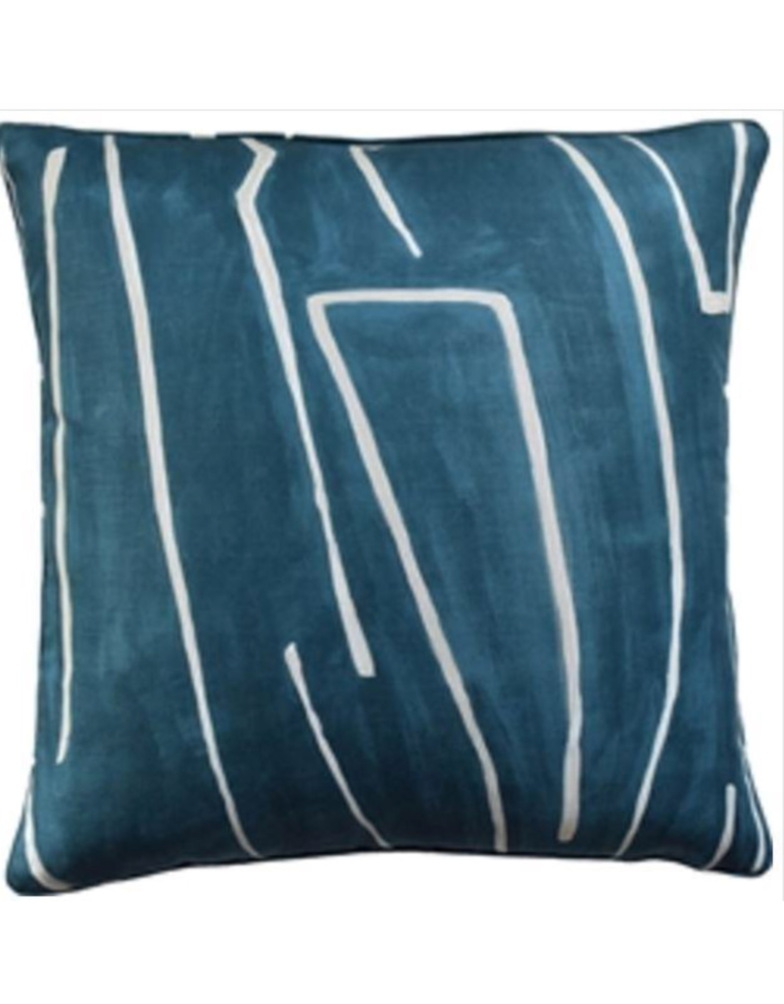 """Website Graffito Teal/Pearl Pillow 22"""""""