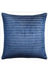"Website Tally Stripe Indigo Pillow 22"""
