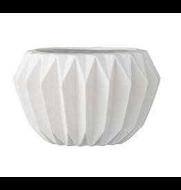 "Website 4""H Stoneware Fluted Flower Pot"