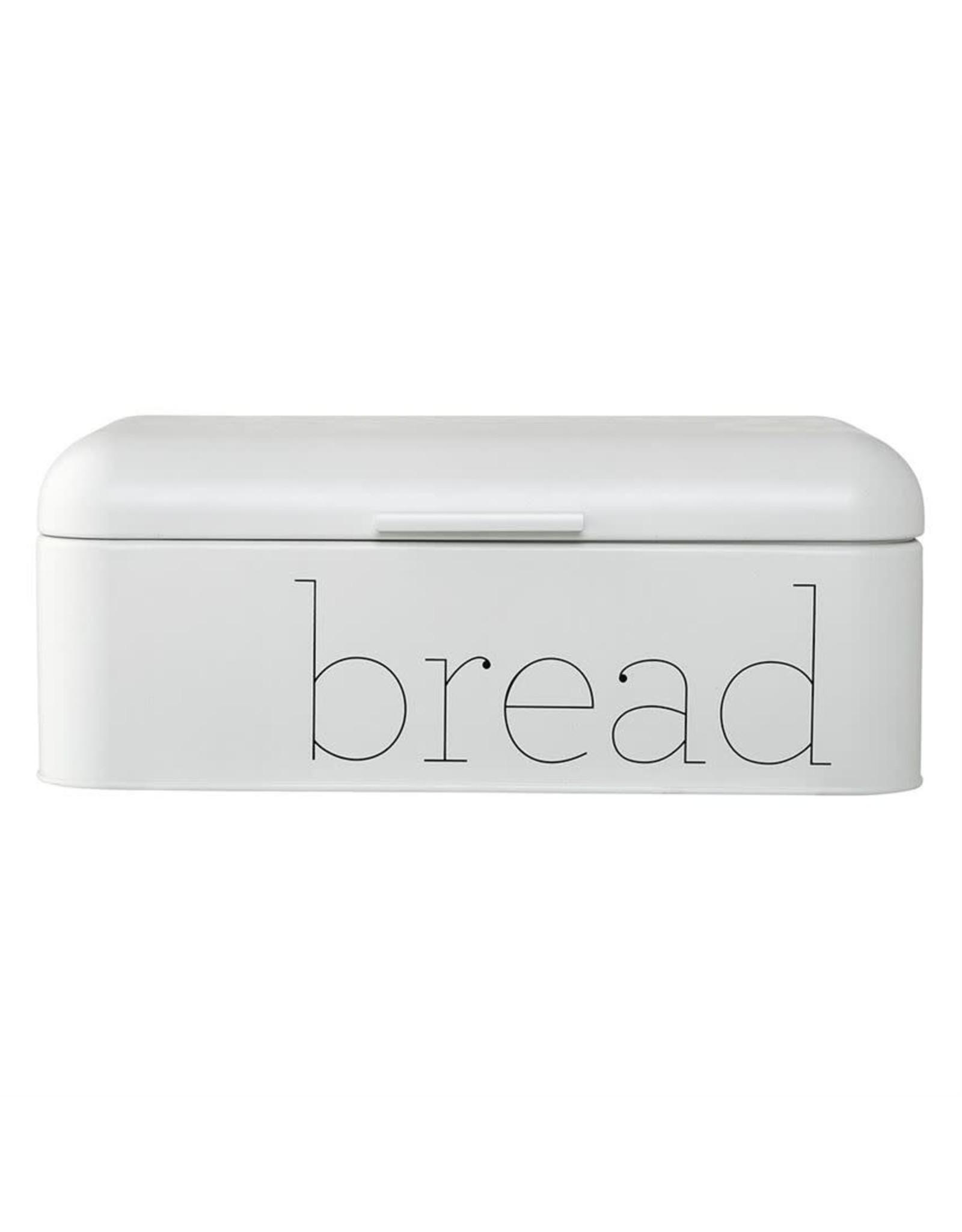 Website Metal Bread Bin in White