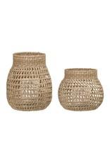 Website Natural Seagrass Lanterns w/ Glass Insert