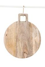 Website Mango Wood Cutting Board w/ Brass Trim Handle