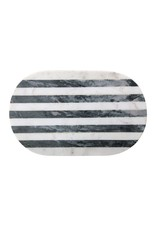 Website Marble Tray/Cutting Board w/ Black & White Stripe