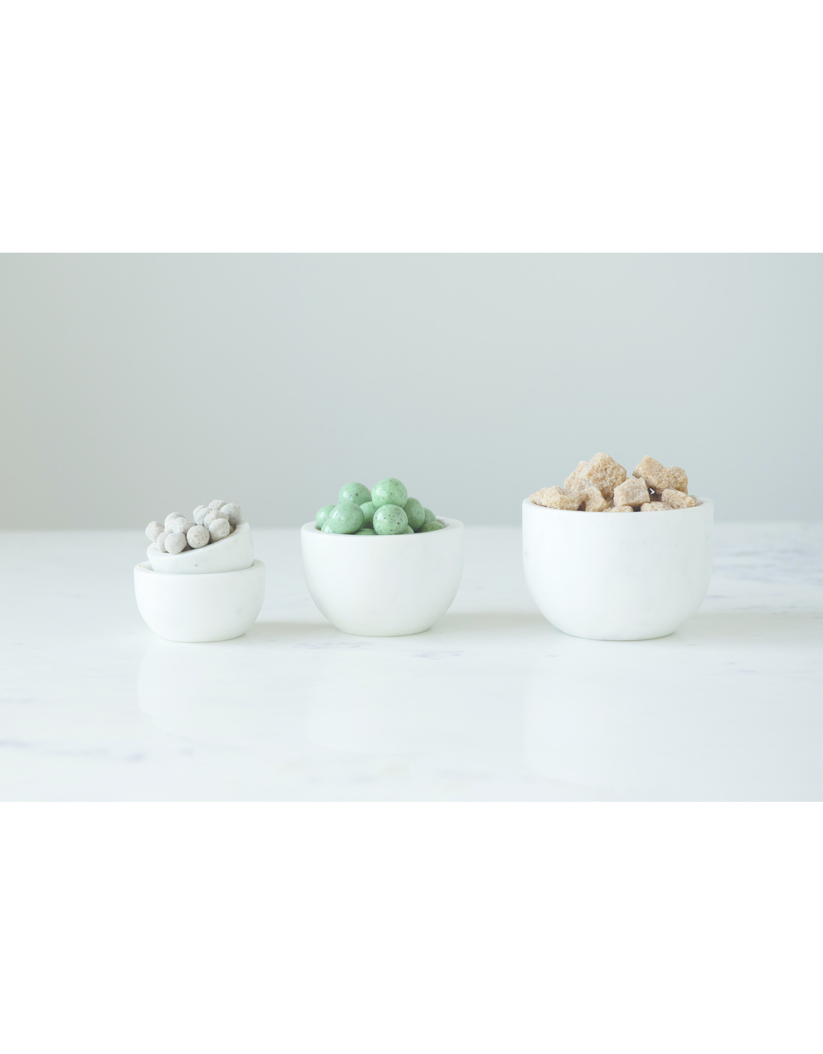 Website Set of 4 White Marble Bowls