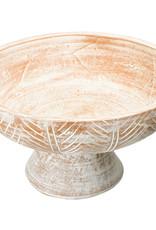 Website Engraved Terra-Cotta Footed Bowl