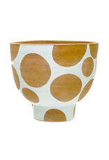 Website White Terra-Cotta Pot with Dots