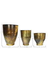 Website Antique Brass Metal Planter Set