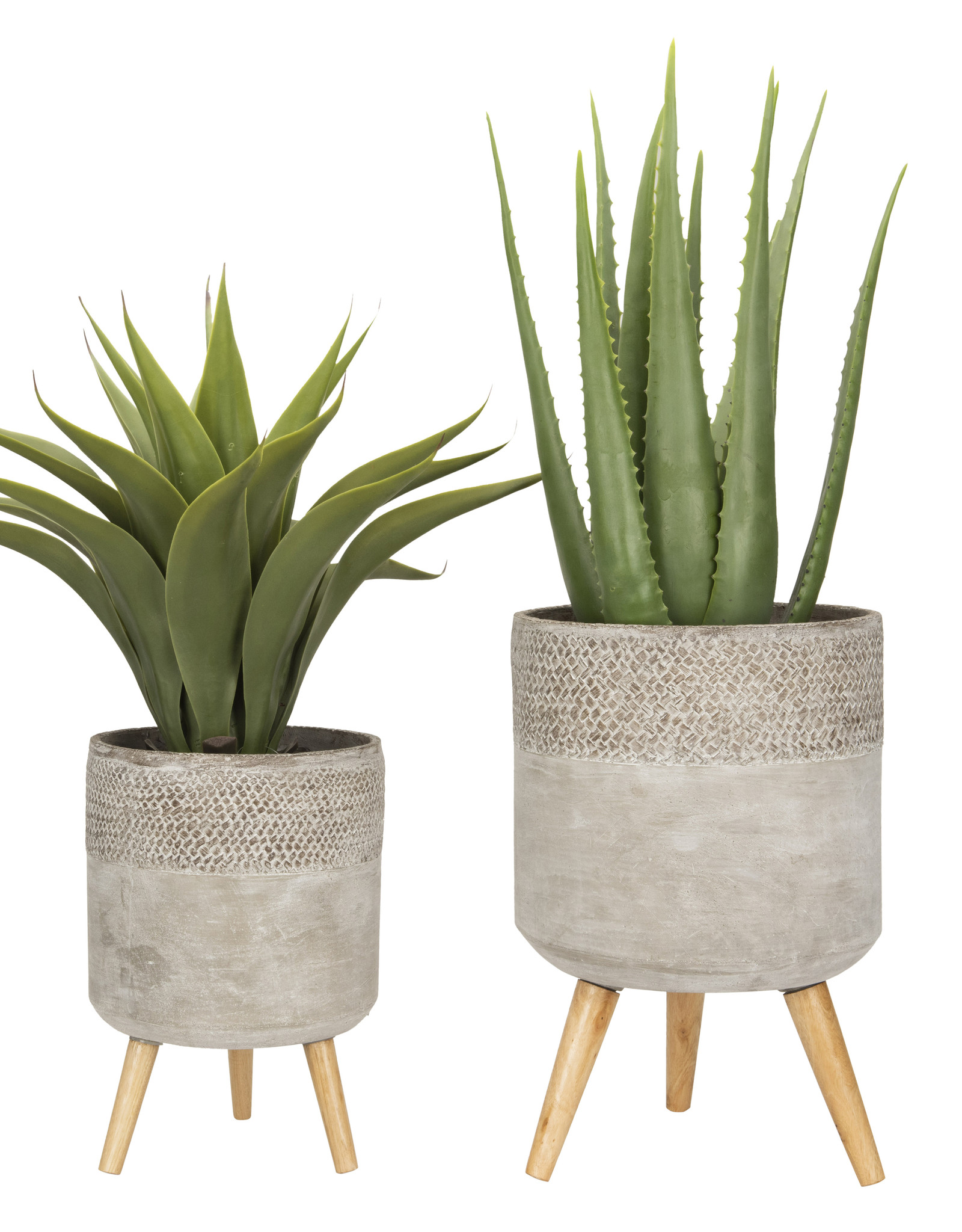 Website Cement Planters with Removable Legs