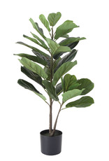 "Website 36"" Faux Fiddle Fig Leaf Plant in Pot"