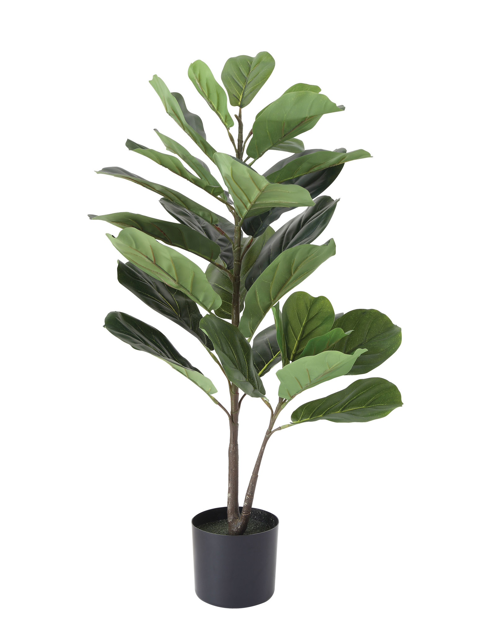 "Website 36"" Faux Fiddle Fig Leaf Plant in Pot"