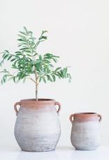 """Website 32"""" Faux Olive Tree in Terra-Cotta Pot"""