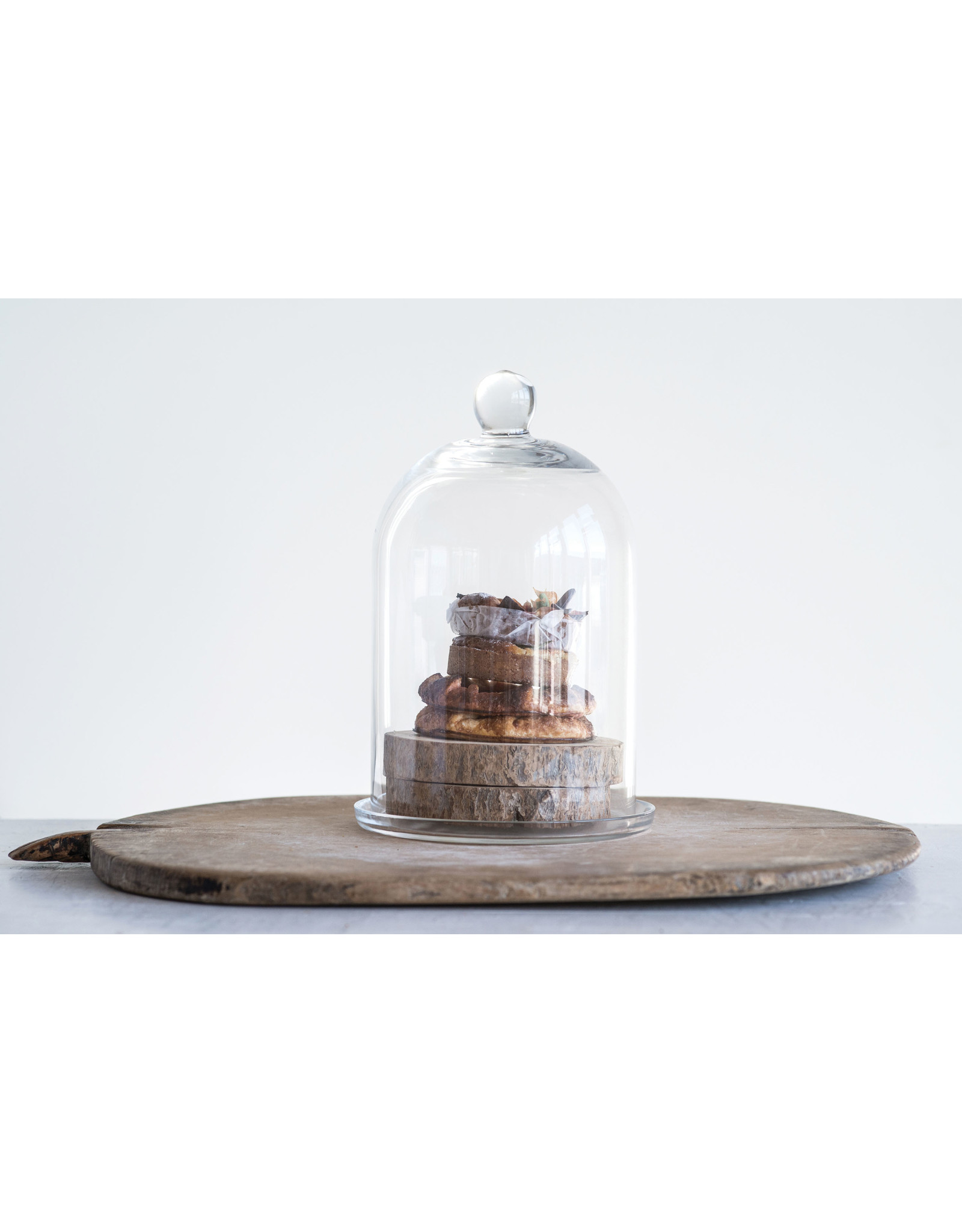 Website Glass Cloche with Plate