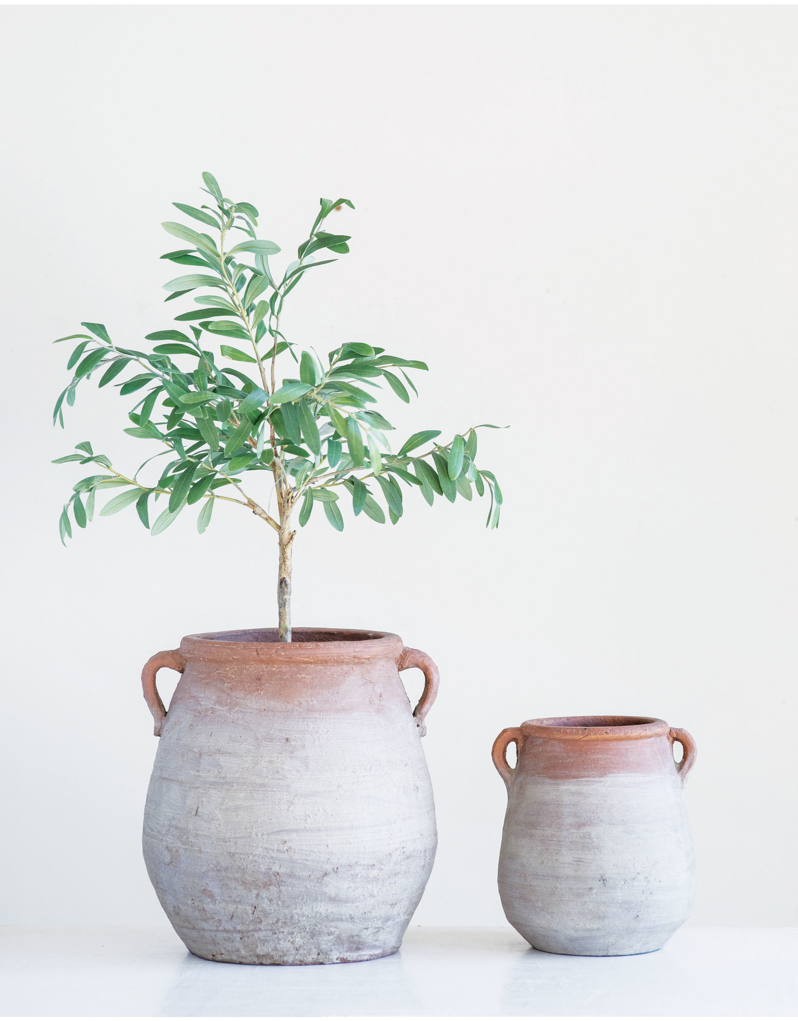 Website Whitewashed Terracotta Urn