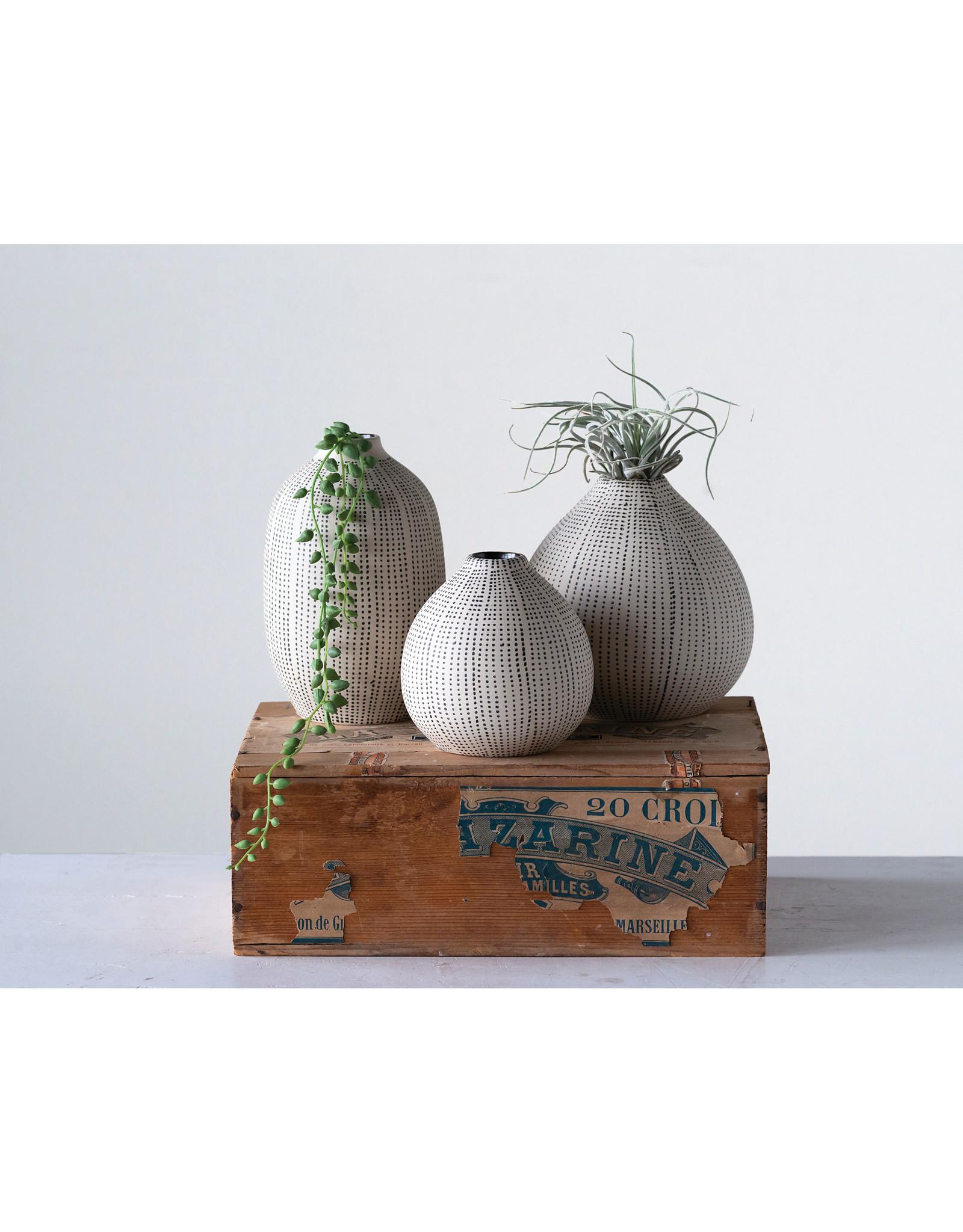 Website Stoneware Textured Vase Set