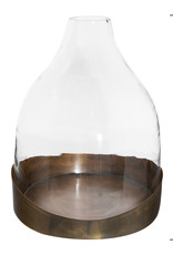 Website Glass Cloche with Antique Copper Tray
