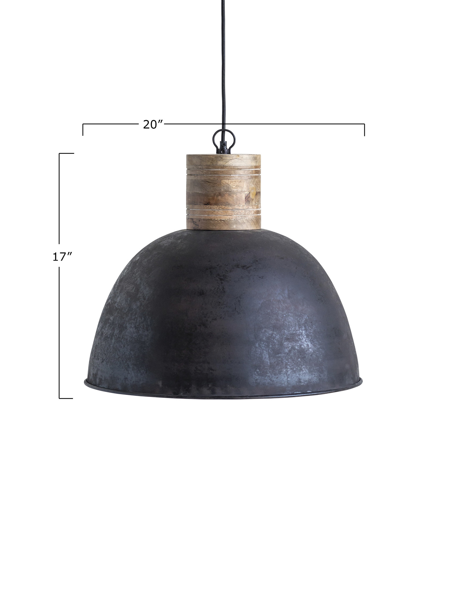 Website Metal & Wood Pendant