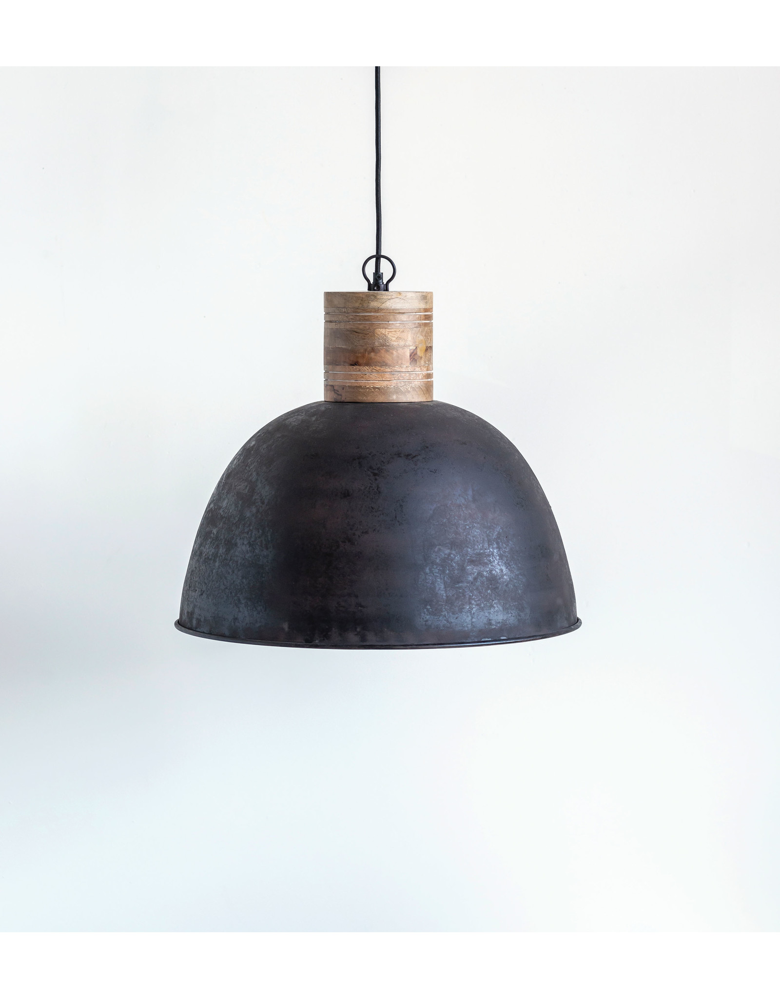 Website Metal & Wood Pendant