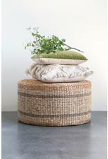 Website Hyacinth & Seagrass Pouf