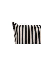 Website Black & White Stripe Cotton Pillow