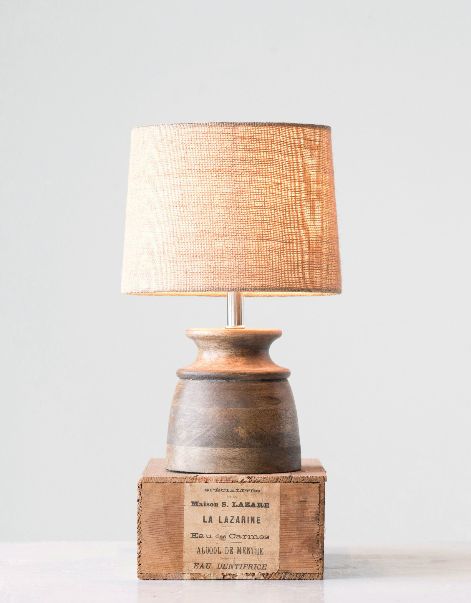 Website Wood Table Lamp with Jute Shade
