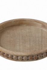 Website Round Decorative Wood Tray