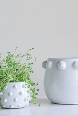 Website White Terra-Cotta Planter with Raised Dots