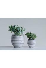 Website Grey & White Stoneware Planter