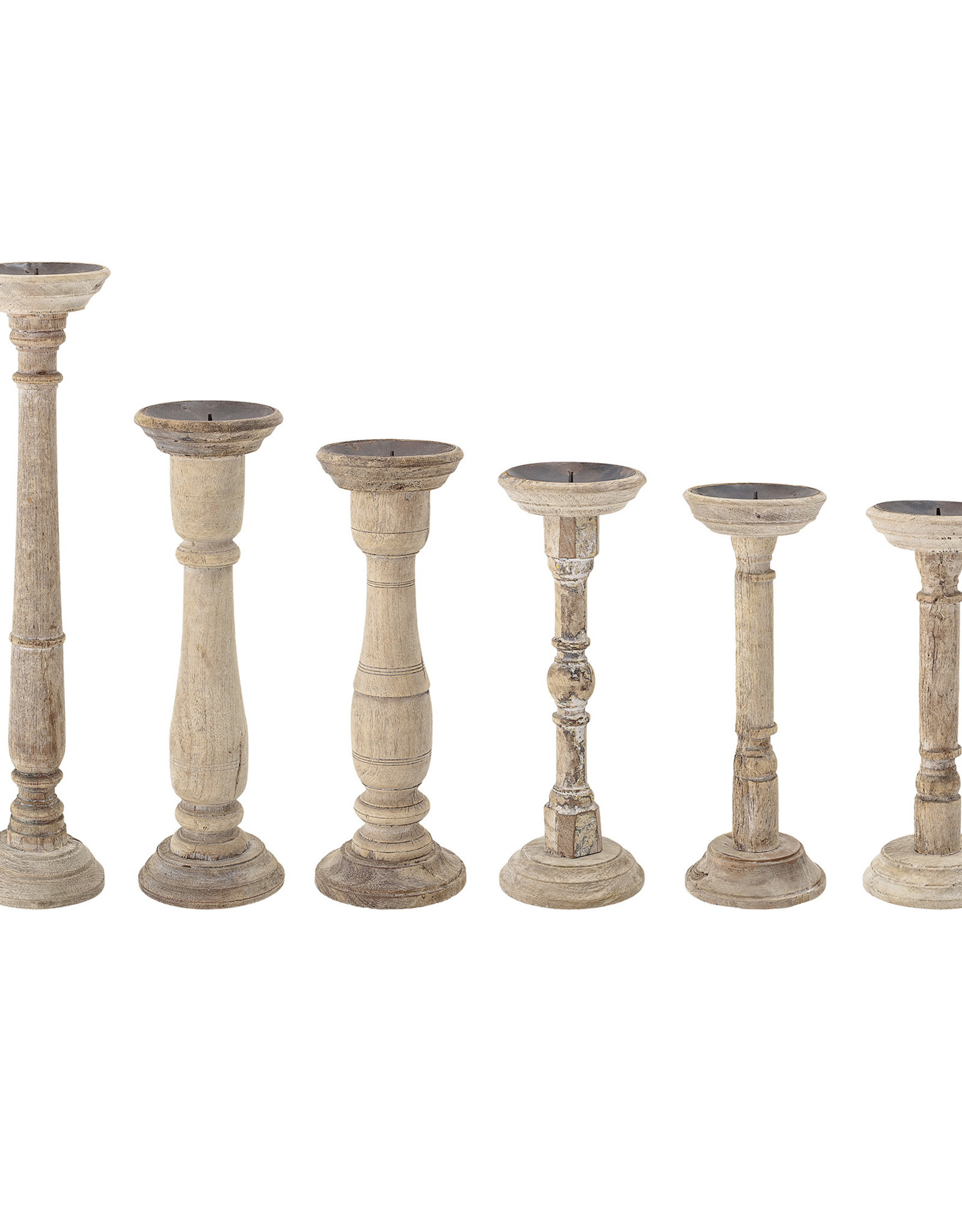 Website Found Wood & Metal Candle Holders