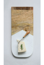 Website Marble & Mango Wood Cutting Board with a Canape Knife