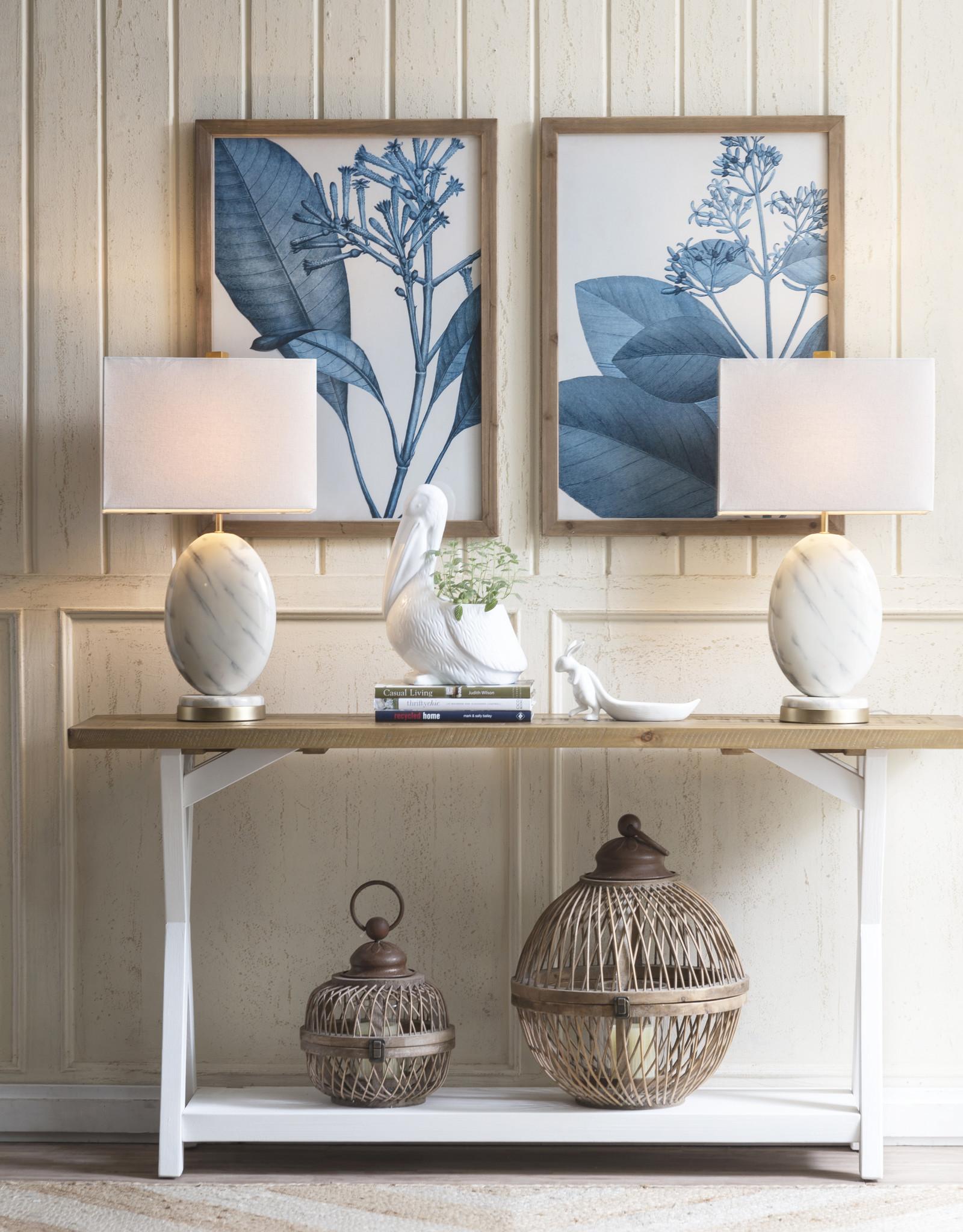 Website Blue Botanicals Framed Wall Prints