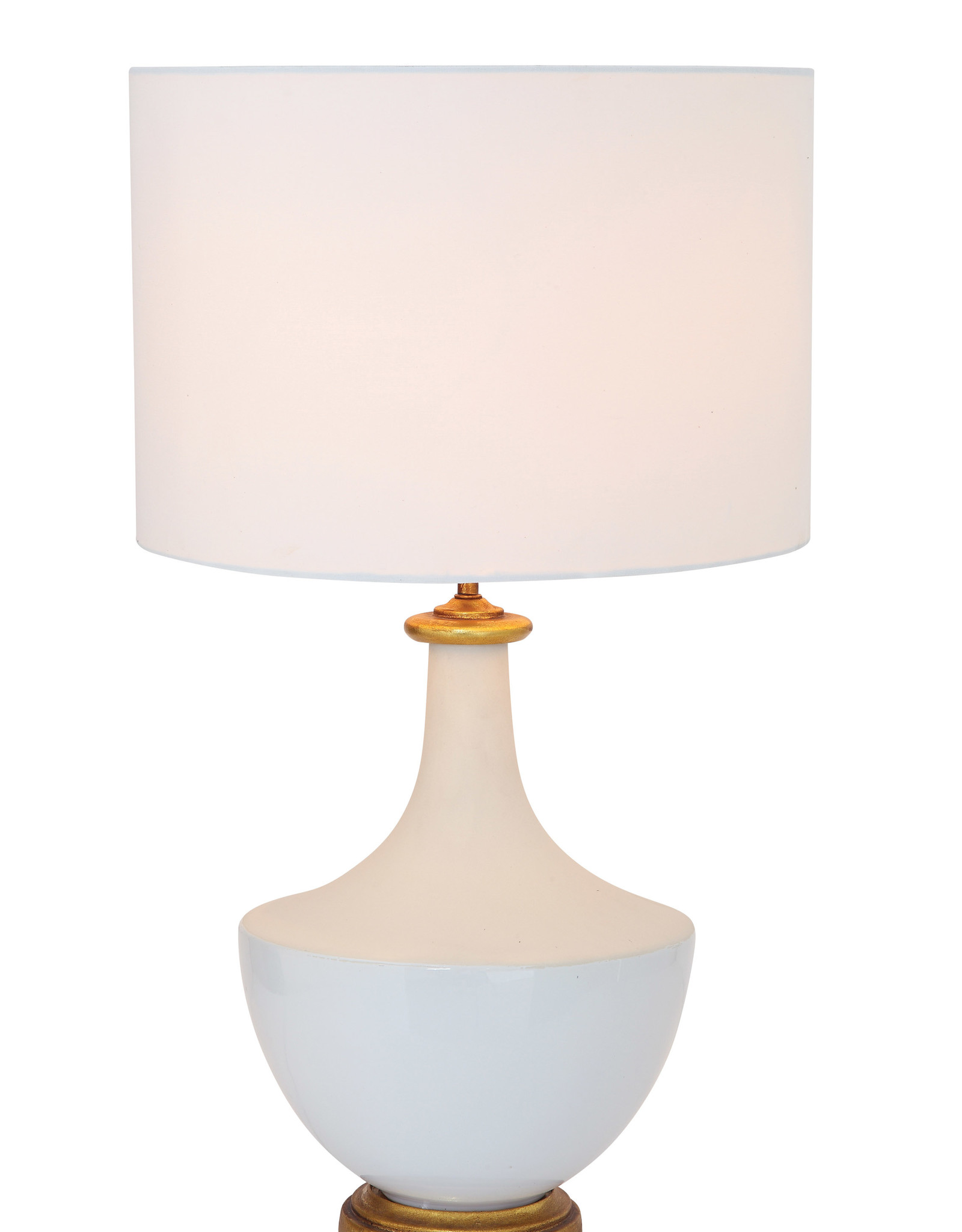 Website Ceramic Lamp with Linen Shade