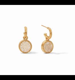 Website Fleur-de-Lis Hoop & Charm Earring - pave cubic zirconia