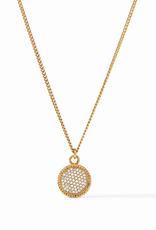 Website Fleur-de-Lis Solitaire Necklace - pavé cubic zirconia