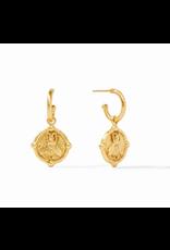 Website Bee Hoop & Charm Earring