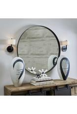 *Padria Black Round Mirror