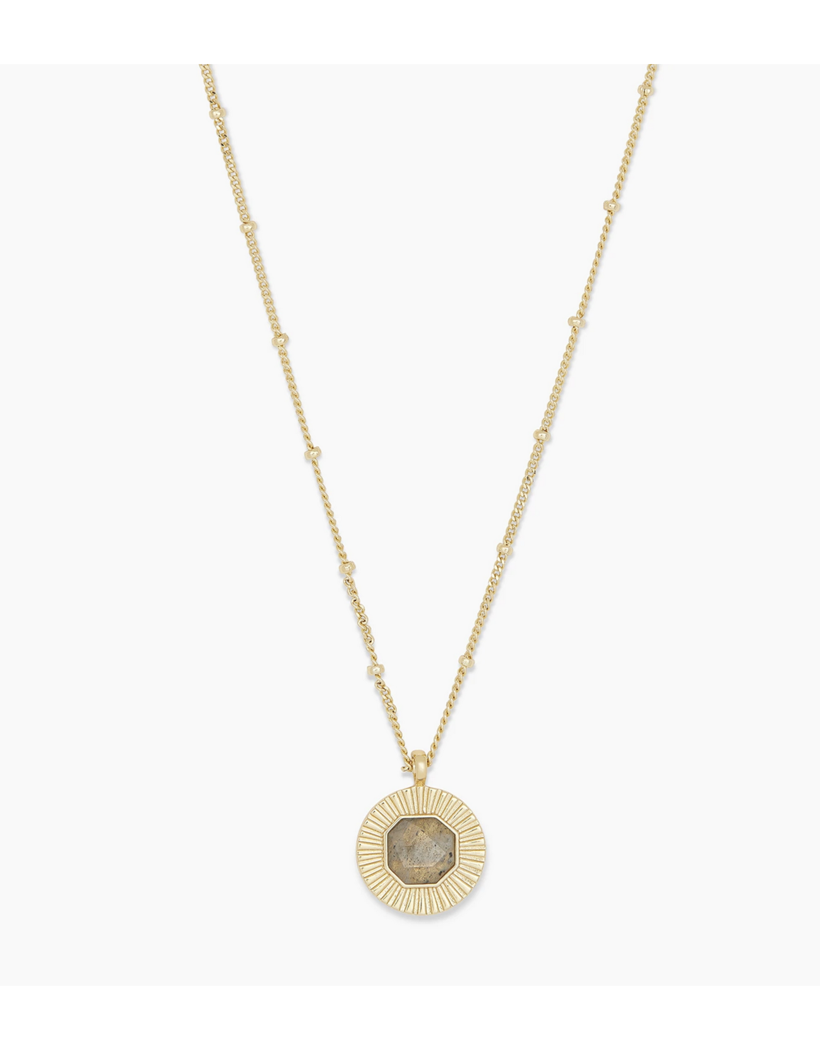 Gorjana Power Gemstone Coin Necklace for Balance