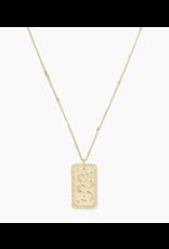 Gorjana Snake Totem Necklace - gold
