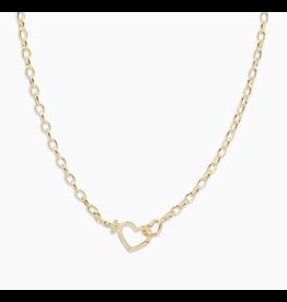 Gorjana Parker Heart Necklace - gold