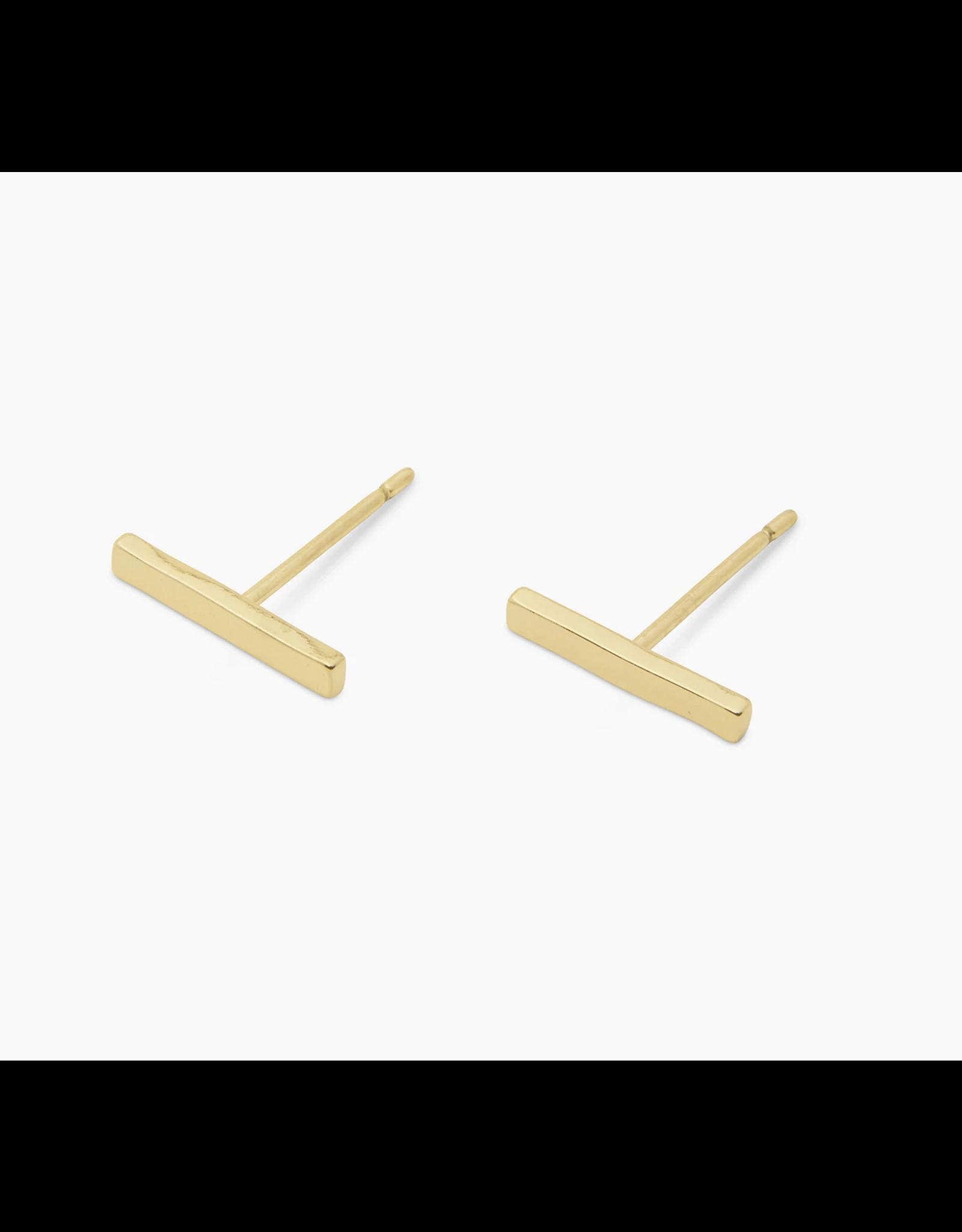 Gorjana Taner Bar Mini Studs - gold