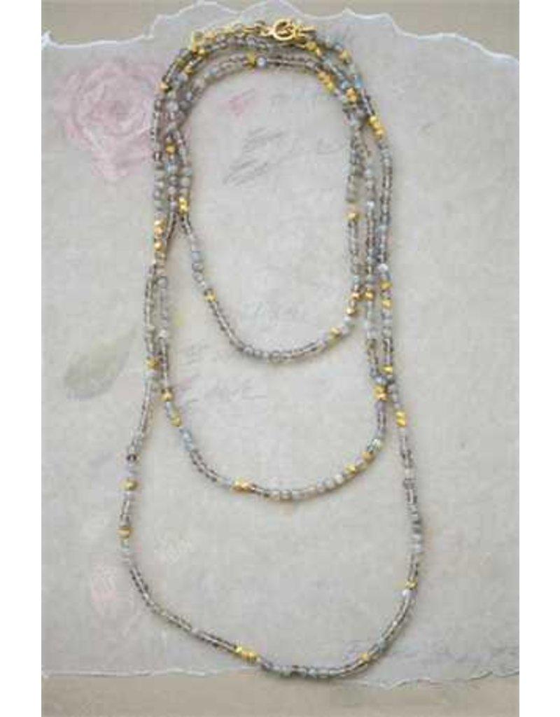Labradorite Stone Bead Necklace