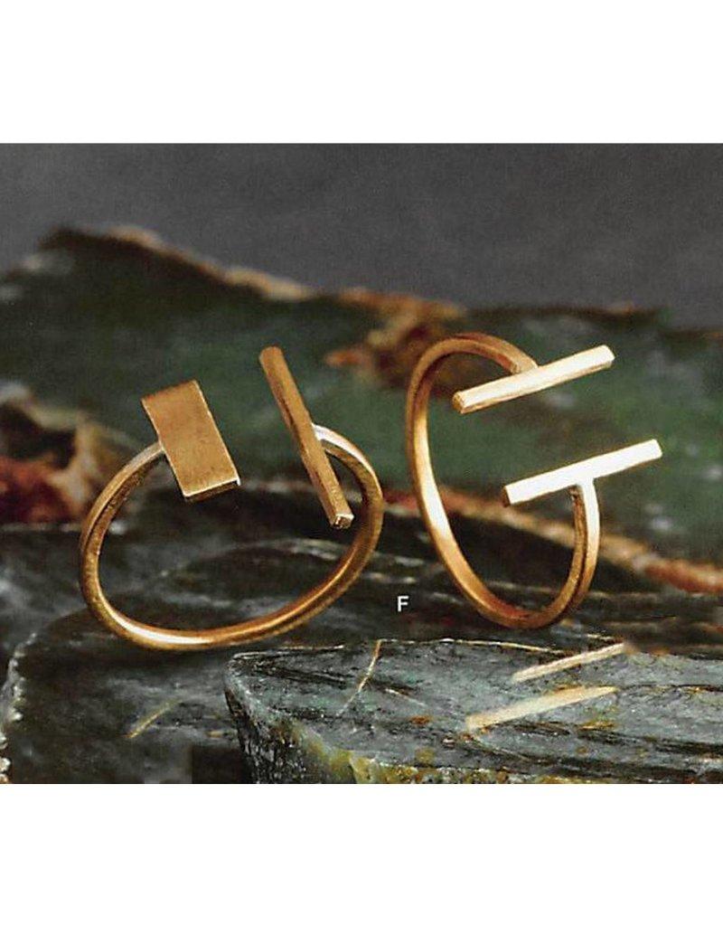 Gold Bar Adjustable Ring