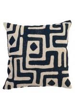 """Mavis Ink Blue Pillow 18"""""""