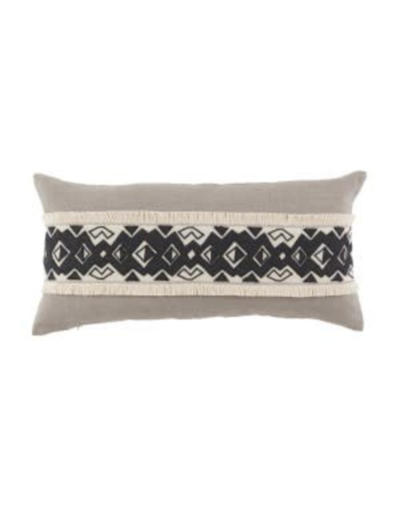 Kuba Applique Band 15x30 Lumbar Pillow
