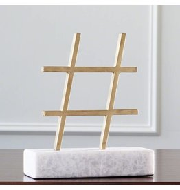 Display Gold Hashtag Figurine