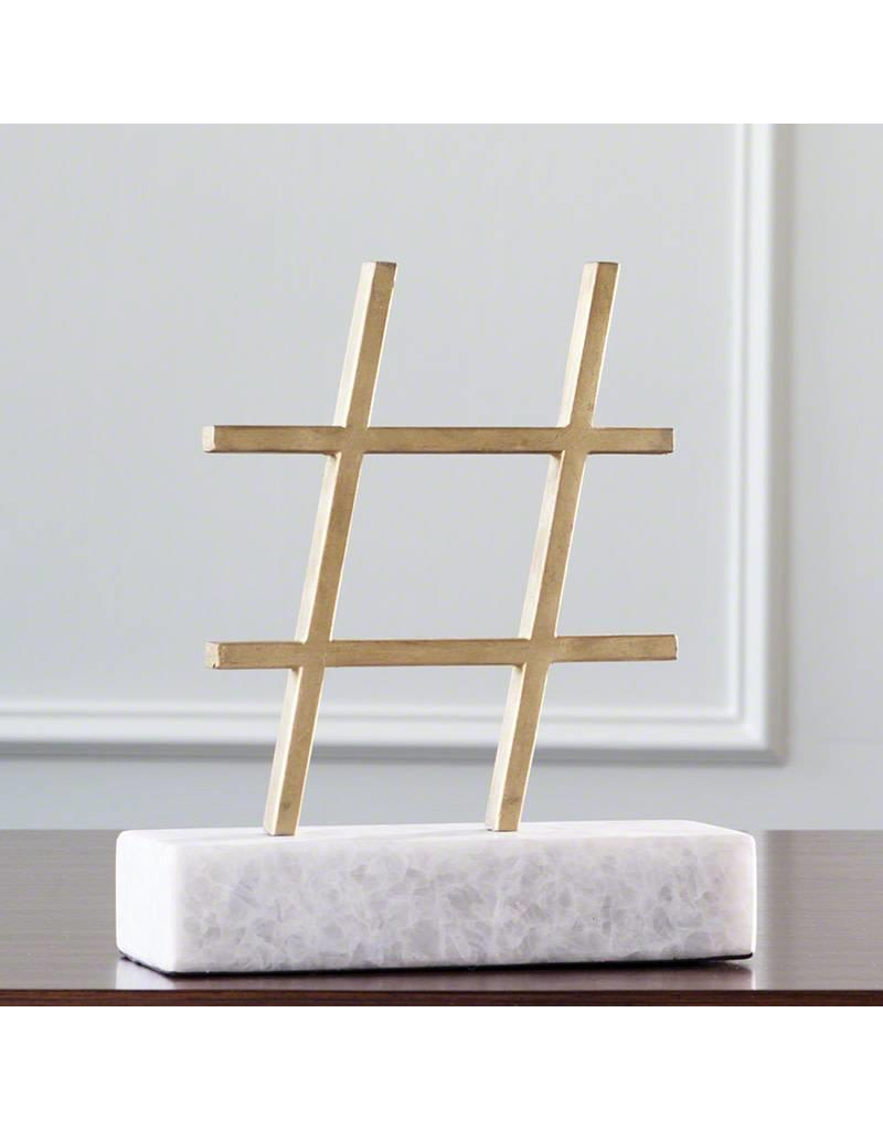 Display Gold Hashtag Figurine
