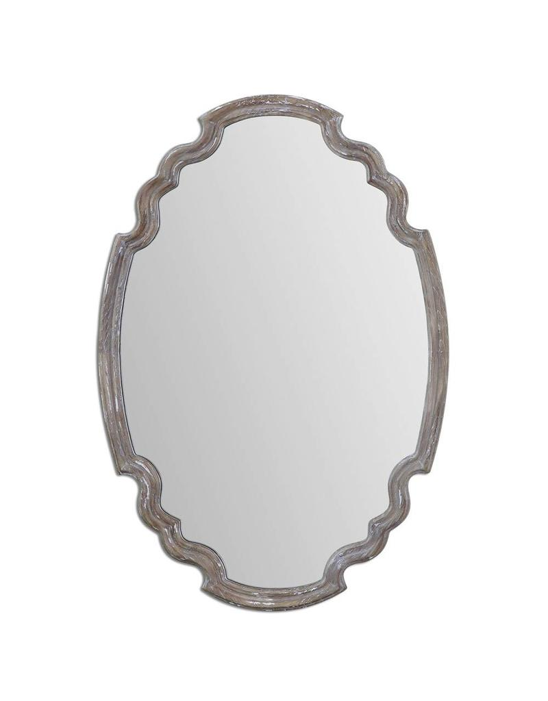 Ludovica Aged Wood Mirror